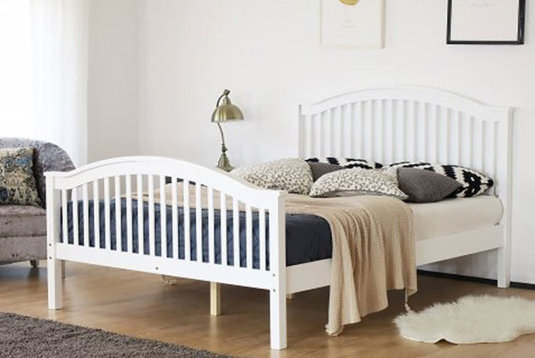 Madrid Wooden Double Bed – 2 Colours! from £149