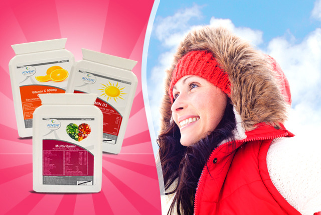 £7.50 instead of £14.99 (from Medishop) for a 2-month* winter vitamin bundle inc. C, D3 & multivitamins - save 50%