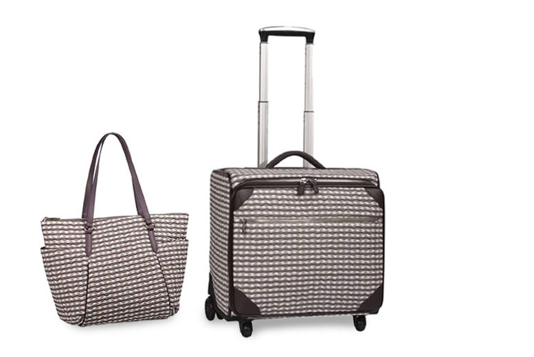 2pc Check Wave Travel Luggage Set - 5 Colours!
