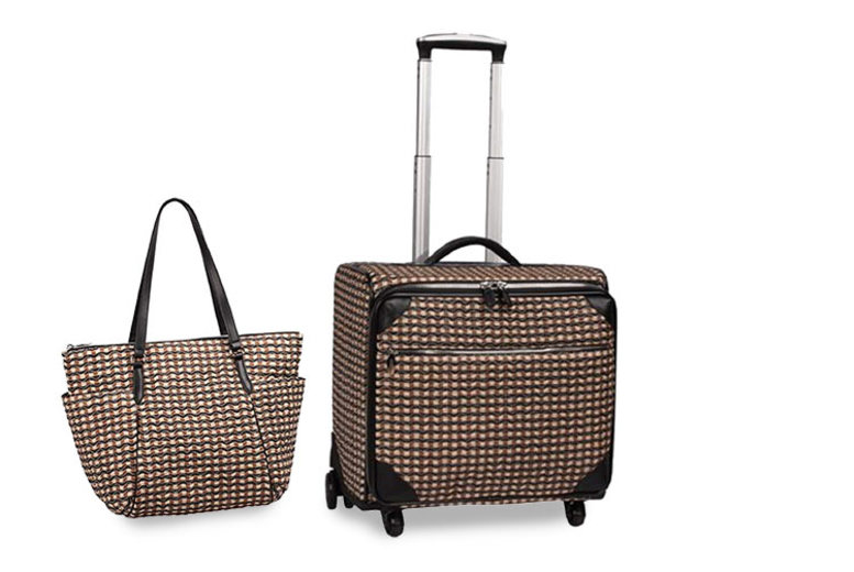 2pc Check Wave Travel Luggage Set  5 Colours!