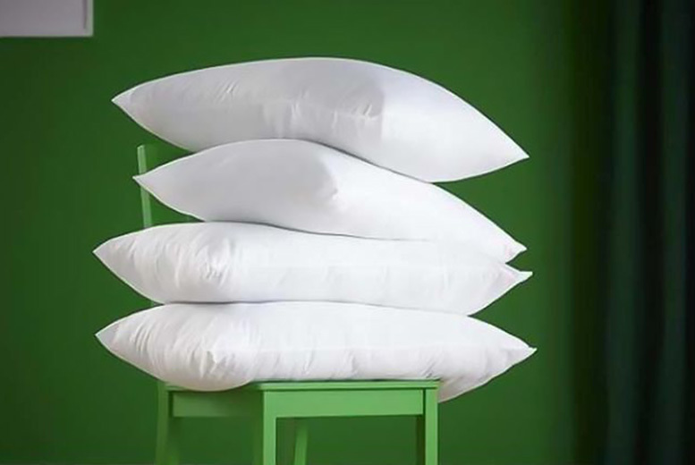 4 Luxury Non-Allergenic Goose Feather & Down Pillows for £17.99