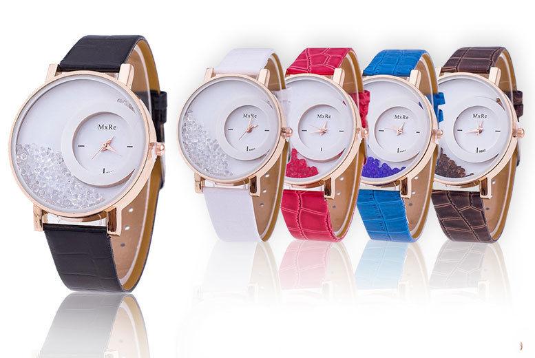 Jessica Rose Crystal Watch & Bracelet Set