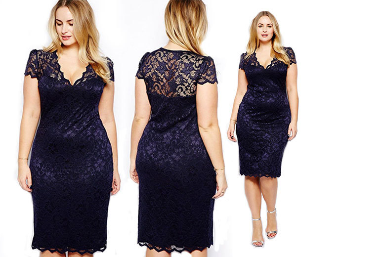 £12 instead of £39.99 (from EFMall) for a navy lace cocktail dress - save 70%