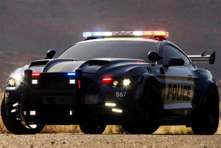 £39 instead of £99 for three laps in the famous Transformers Mustang GT Barricade police car with Car Chase Heroes - choose from eight locations and save 61%