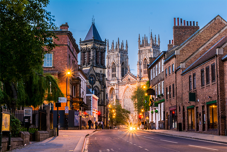 £69 (at Queens Hotel) for an overnight York break for two people with a full English breakfast or £129 for two nights - save up to 47%