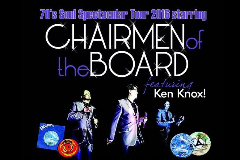 £15 instead of £30 for two tickets to see Chairmen of the Board live at Rolls-Royce Leisure, Derby on 25th September from Gold Soul - save 50%