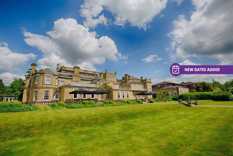 Hampshire Manor Stay, 2-Course Dinner, B'fast & Leisure Access for 2