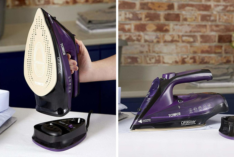 Tower 2-in-1 Steam Iron w/ Nano-Coated Soleplate for £24.99