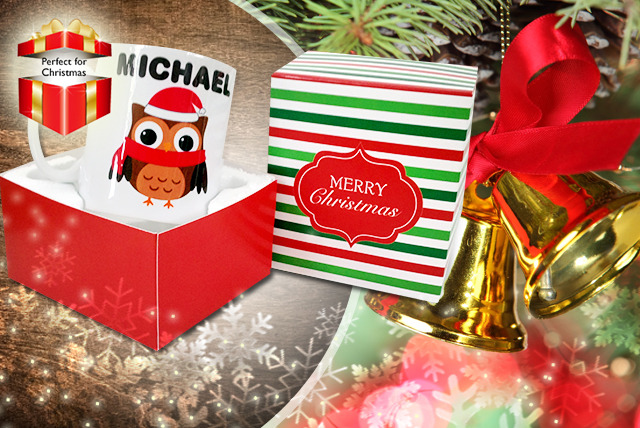 £5.99 instead of £10.99 (from Colour My Wall) for a personalised Christmas mug or £9.99 for a personalised Mr & Mrs mug set - save up to 45%