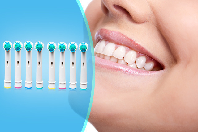 £5 for 8 Oral-B compatible electric toothbrush heads, £9.75 for 16 or £18 for 32 from Merchtopia
