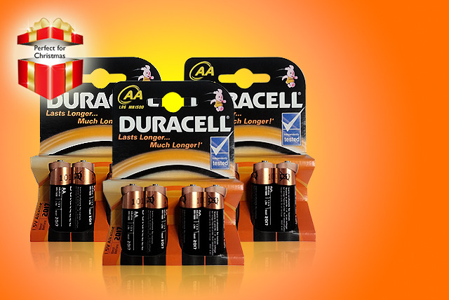 £4.49 instead of £11.99 (from ClearChemist) for 12 AA Duracell batteries, £7.99 for 24 batteries - save up to 63%