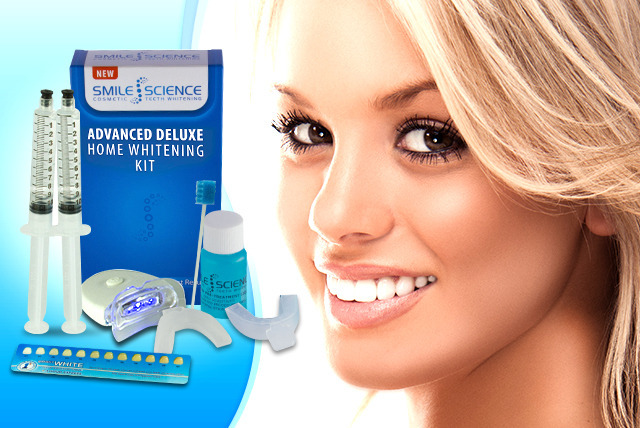 £19 instead of £129 (from Smile Science) for a peroxide-free LED home teeth whitening kit - brighten your smile & save 85%