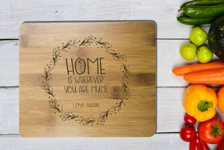 Personalised Bamboo Chopping Board – 22+ Styles! for £6