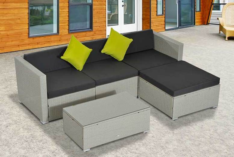 5pc Outsunny Rattan Sofa Set  3 Colours!
