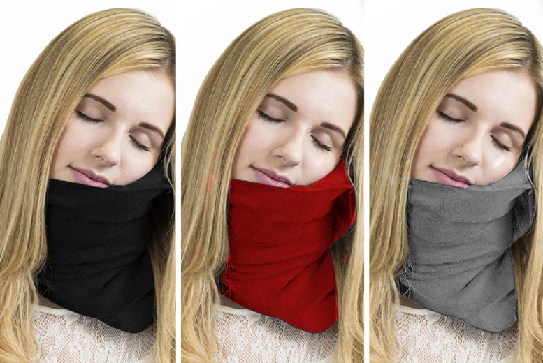 Neck Support Travel Pillow – 3 Colours! for £9.99