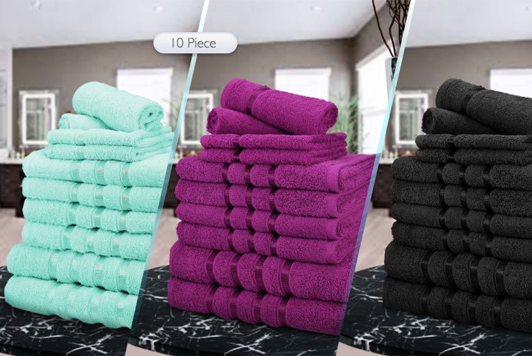 £12 instead of £69.99 (from Fusion Online) for a six-piece towel bundle, £14 for a 10-piece – choose from 12 colours and save up to 83%