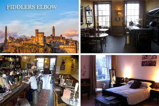 £79 for 1 night or £119 for a 2 night city break for two + 2 course meal & bottle of Prosecco at The Fiddlers Elbow, Edinburgh – save up to 70%