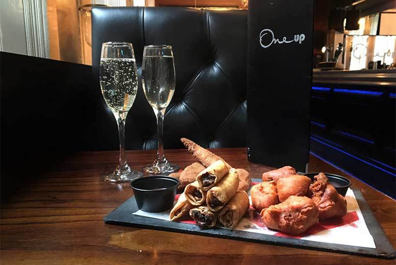 Glasgow: 3 Sharing Plates & Bottle of Prosecco @ One Up, Glasgow for £24