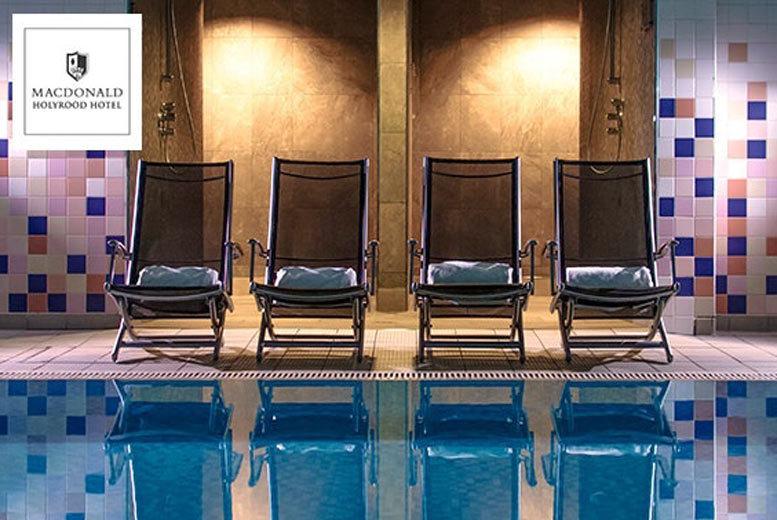 Edinburgh: Spa Day, 2 Treatments & Prosecco @ 4* Macdonald Holyrood Hotel from £45