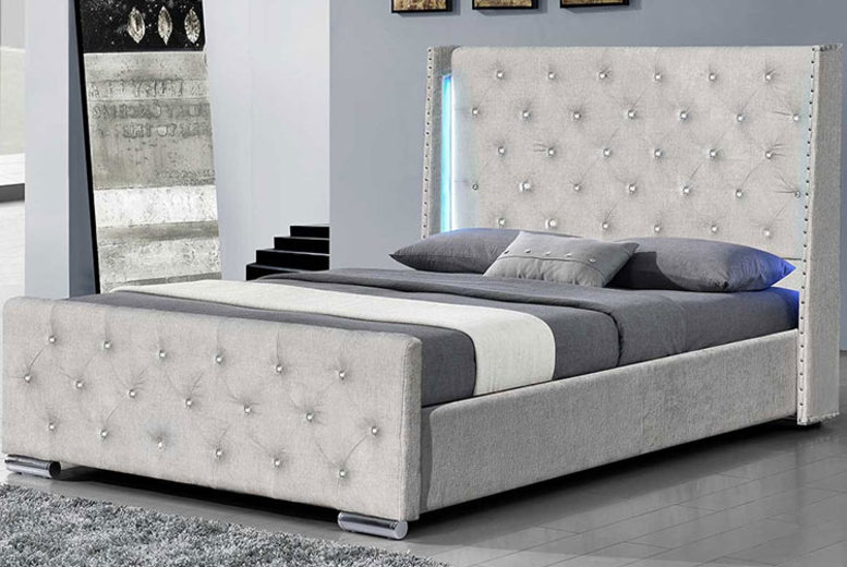 Grey Dorchester LED Bed – 2 Sizes! from £259