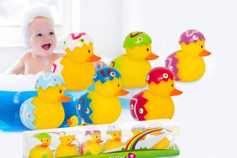 Pack of 6 Easter Bath Ducks for £4.99