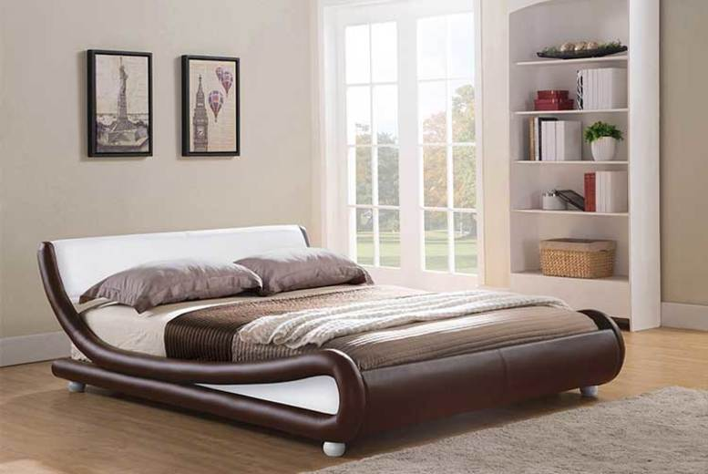 Galaxy Faux Leather Bed – 2 Sizes & 5 Colours! from £109
