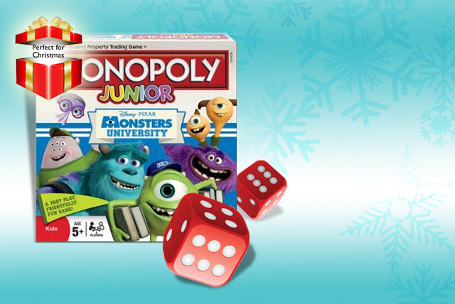 £12.99 instead of £19.99 (from Winning Moves) for a Monsters University Monopoly Junior board game - save 35%