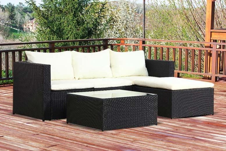 5pc Malaga Rattan Garden Modular Sofa Set – 2 Colours!