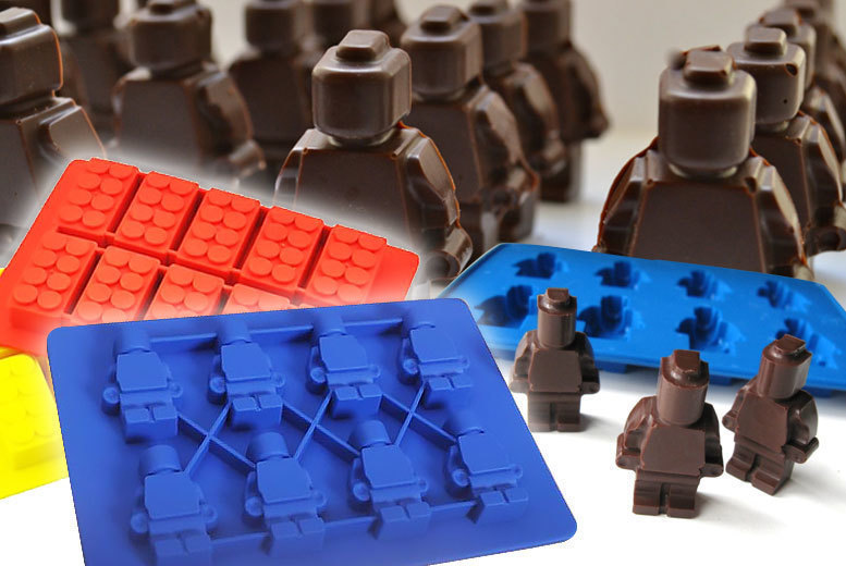 Set of 2 Building Brick Moulds for Ice & More! for £4.99