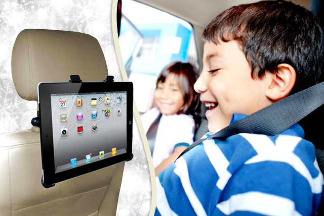 £8.99 instead of £29.99 (from TIME 2) for an iPad and tablet PC universal car headrest cradle - save 70%