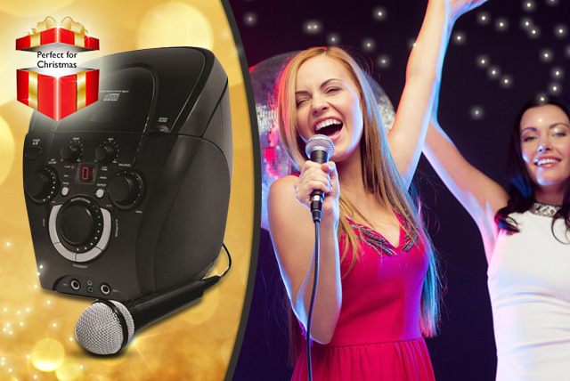 £29.99 instead of £59.99 (from Sashtime) for a Popstarz karaoke machine with microphone - save 50%