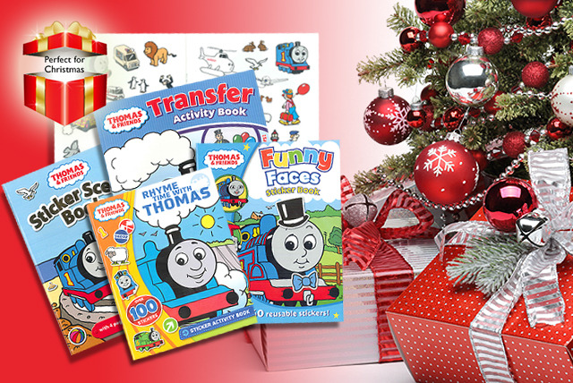 £8.99 (from Kids IQ Books) for a 5-book Thomas the Tank Engine, Fireman Sam or Bob the Builder Story & Activity collection - save 55%
