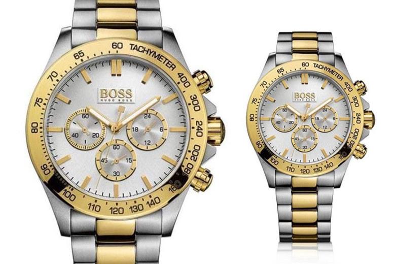 Two-Tone Hugo Boss Men's HB1512960 Ikon Chronograph Watch