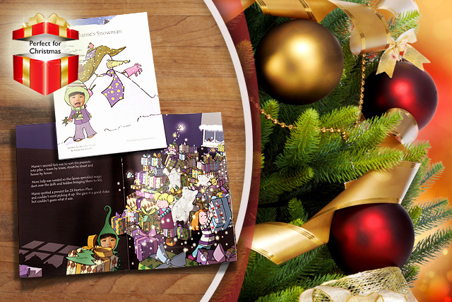 £9.99 instead of £19.99 (from It's Your Story) for a personalised A4 children's snowman book including photos - save 50%