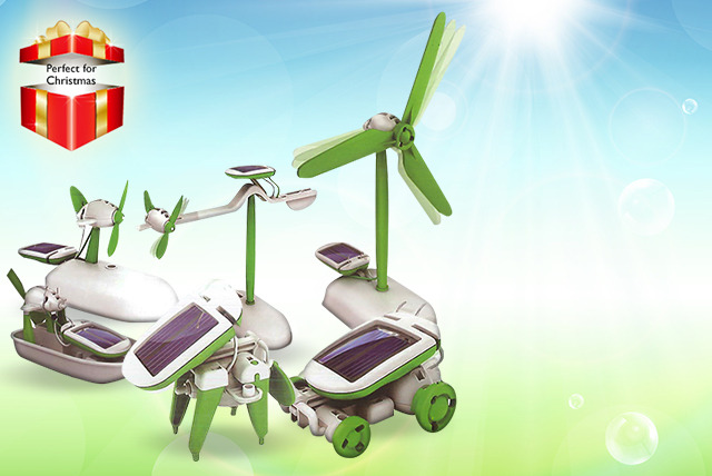 £5.99 instead of £19.99 (from Juggernet) for a 6-in-1 solar model toy - save 70%