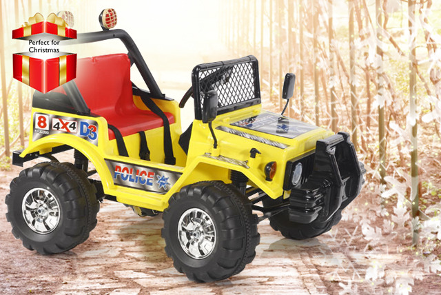 £120 instead of £299.99 (from Giant Red 7) for a 12V 4x4 electric jeep in a choice of three fab colours - save a speedy 60% + DELIVERY IS INCLUDED!
