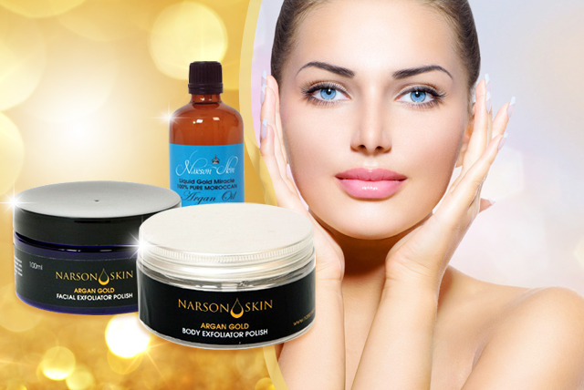 £19 instead of £111 (from Narson Skin) for an Argan Gold skincare bundle - save 83%