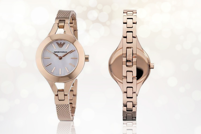 Rose Gold Emporio Armani AR7329 Ladies' Watch