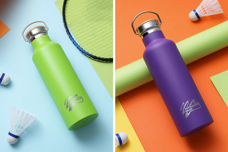 Stainless Steel Insulated Water Bottle – 3 Sizes & 6 Colours! from £8.99