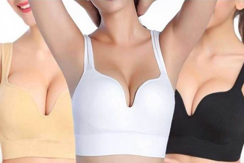 Seamless Comfort Push-Up Bra – 1 or Pack of 3! from £6.49