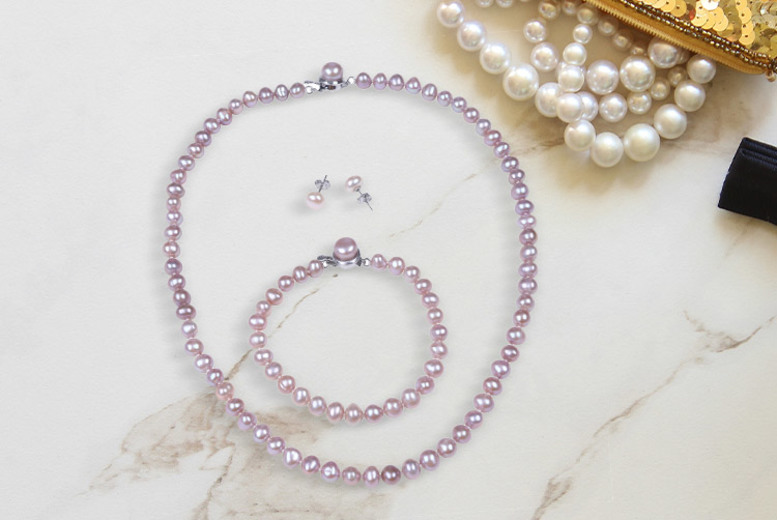 Mother's Day Fresh Water Pearl Jewellery Set – Optional Rose! from £22
