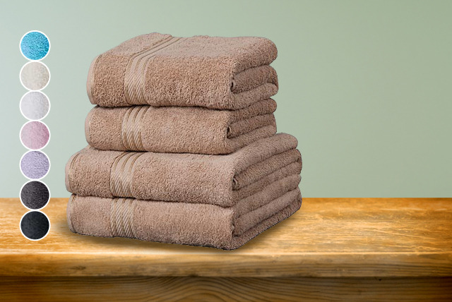 £13.95 instead of £24.99 for a 4-piece Egyptian cotton towel set, £49.98 for a 14-piece set from Wowcher Direct - save up to 44%