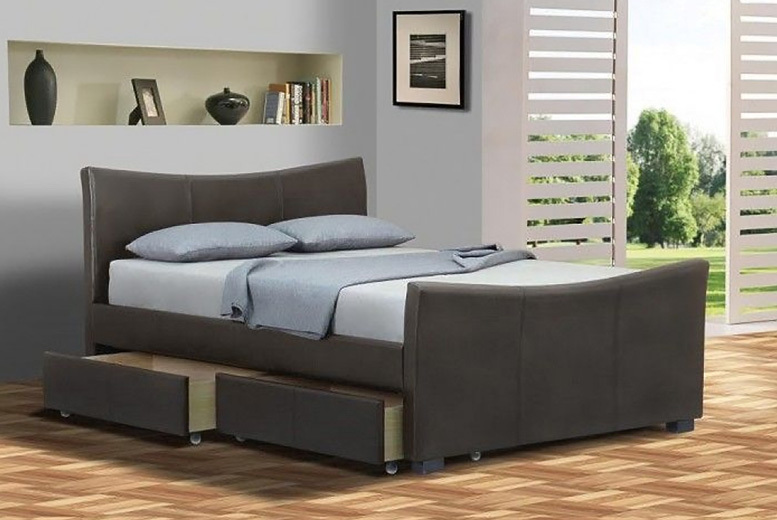 4-Drawer Barcelona Bed w/ Optional Mattress – 2 Sizes & 2 Colours! from £139