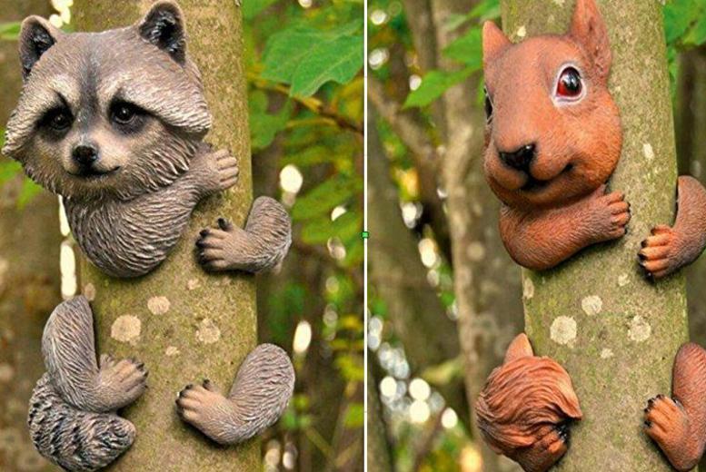 Tree Hugging Animal Garden Ornament  4 Designs!