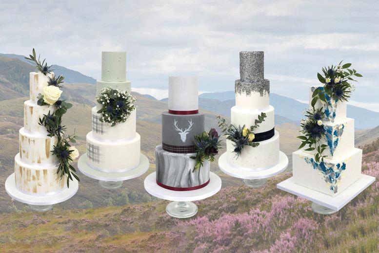 Edinburgh: Luxury Scottish Wedding Cake @ 3D Cakes – Up to 6 Tiers! for £99