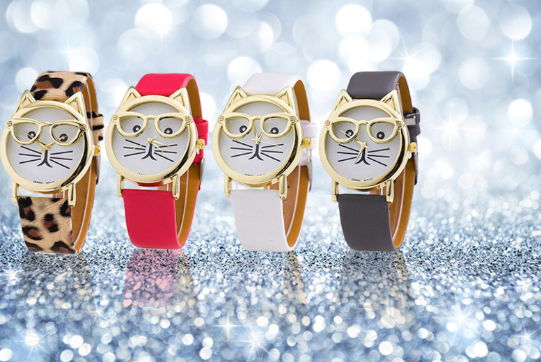 Ladies Cat Geek Watch - 4 Designs!