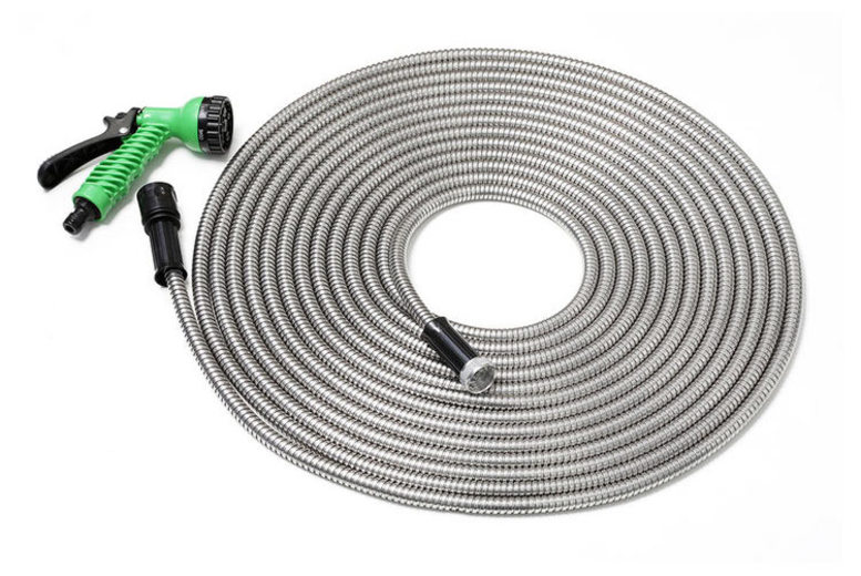 50ft 'Smart Steel' Garden Hose With 7″ Nozzle for £16.99