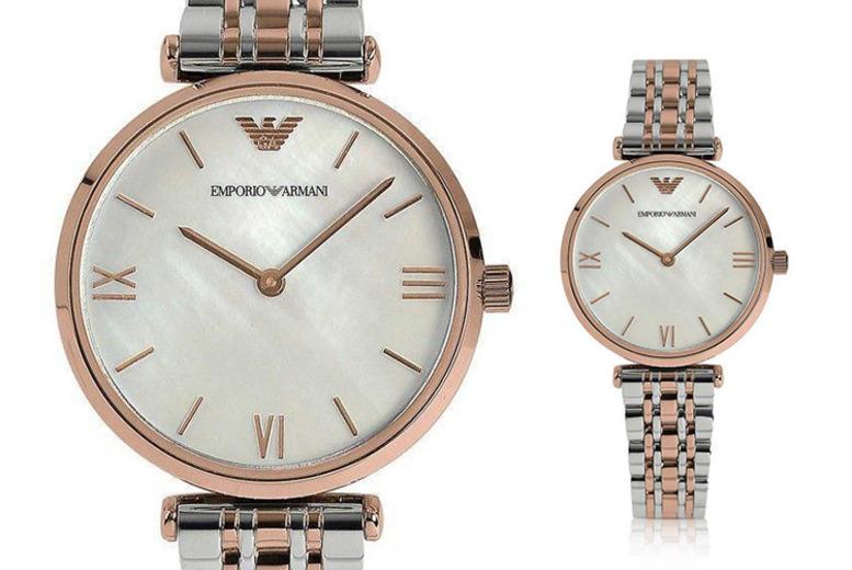 AR1683 Ladies' Emporio Armani 2-Tone Watch