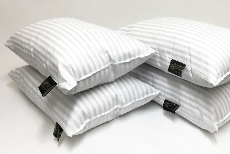 4 x Luxury Striped Bed Pillows