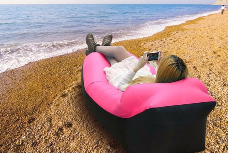 Relaxair Inflatable Lounger with Head Rest